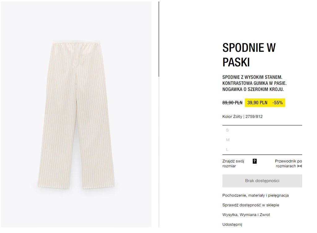 spodnie lniane Zara