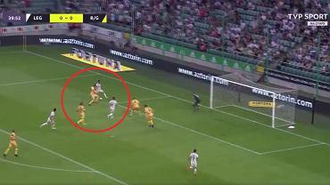 Gol Luquinhasa w meczu Legia - Bodo/Glimt