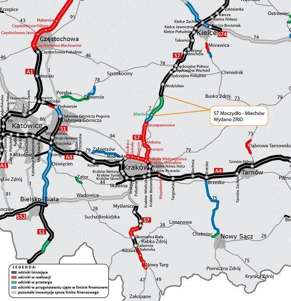 Trasa S7 Moczydło - Miechów