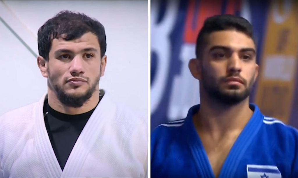 Algierski judoka Fethi Nourine (z lewej) i Tohar Butbul z Izraela