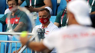 Andrzej Duda wywołał zamieszanie na meczu Polaków. Rywal nie wiedział, co się dzieje