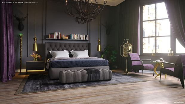 Pokój Czarownicy inspirowany bajką Śpiąca Królewna