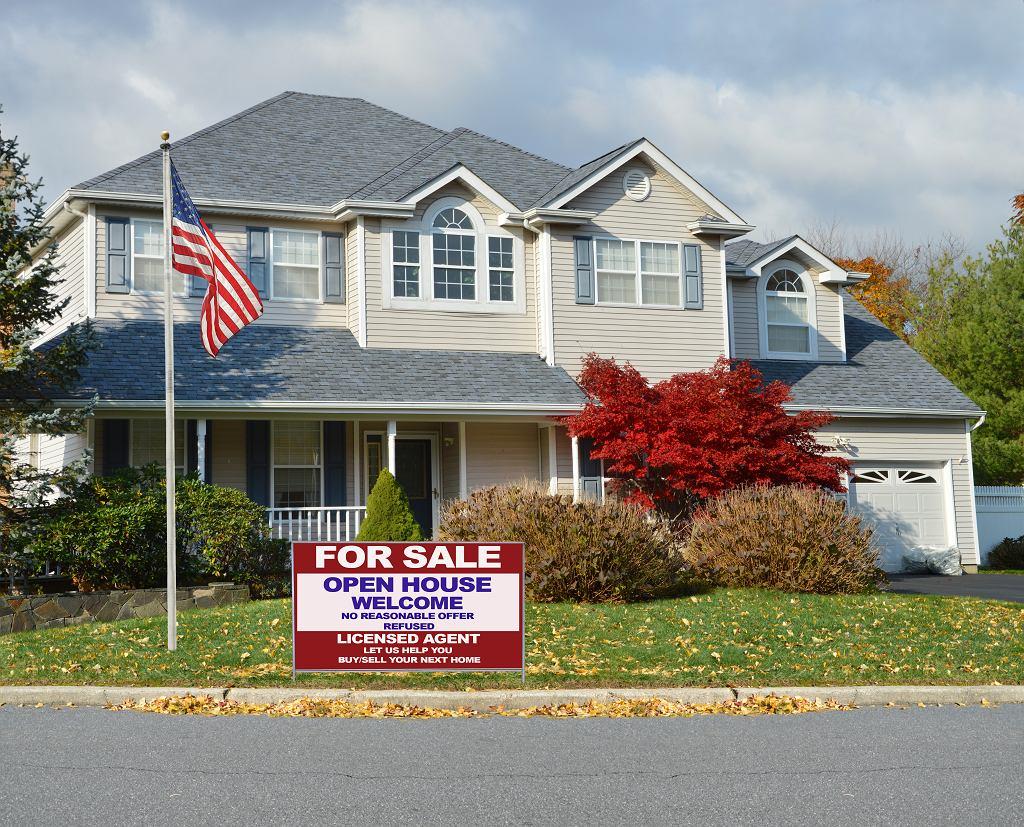Domy w USA, zdjęcie ilustracyjne.