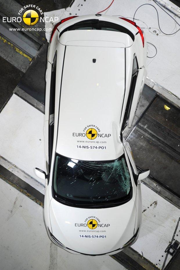 Test zderzeniowy Nissana Pulsar