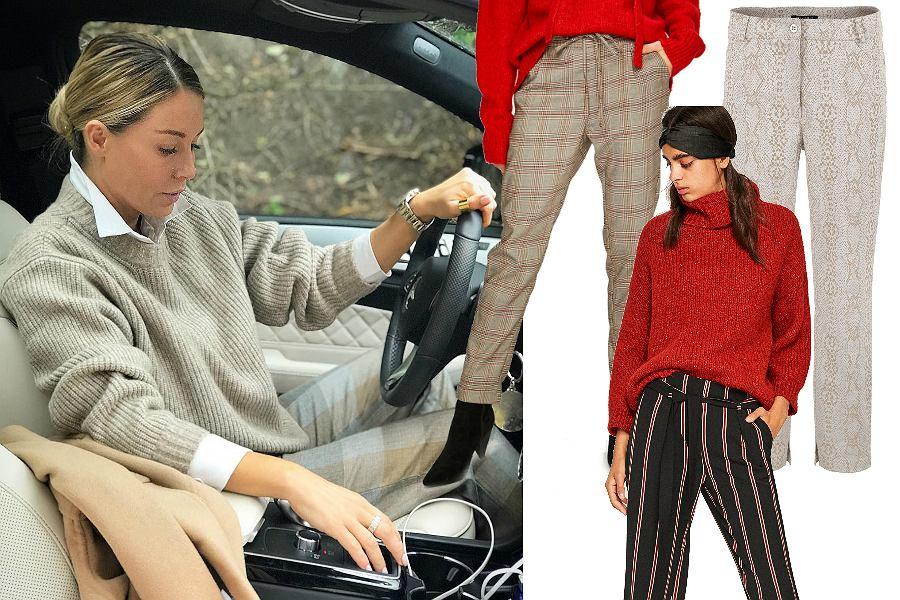 Wzorzyste spodnie na zimę
