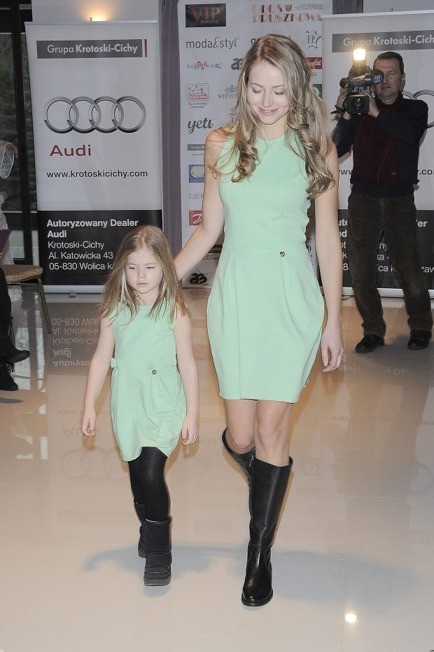 Agata Rubik z córką