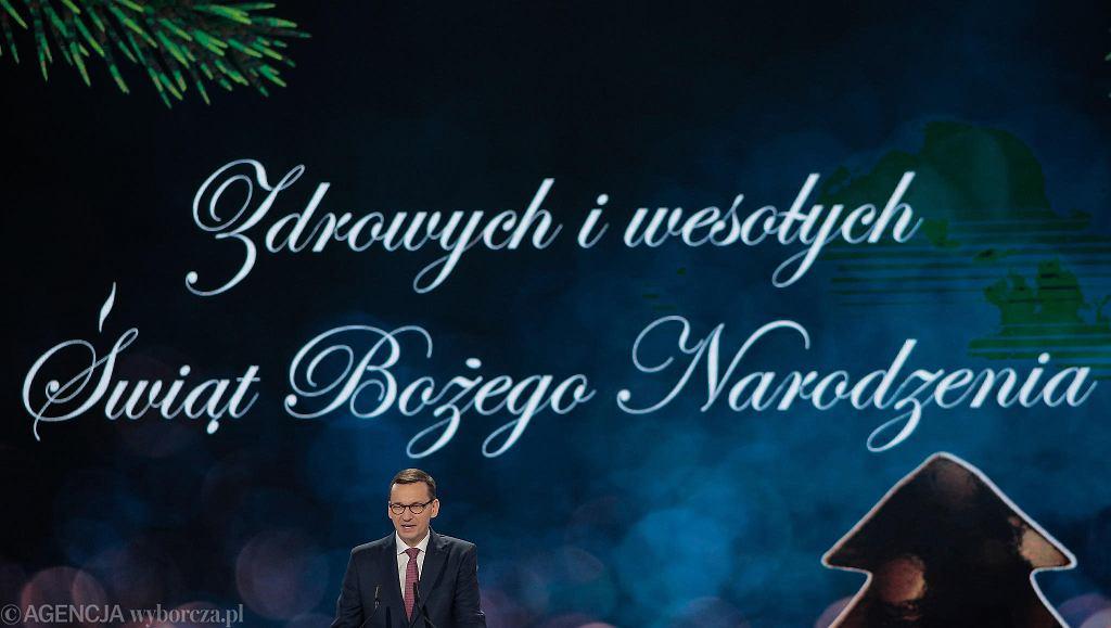 Pod koniec konwencji PiS życzenia świąteczne złożył premier Mateusz Morawiecki.