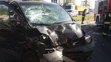 Do wypadku doszło na skrzyżowaniu ul. Dominikańskiej z ul. Katowicką w Ustroniu