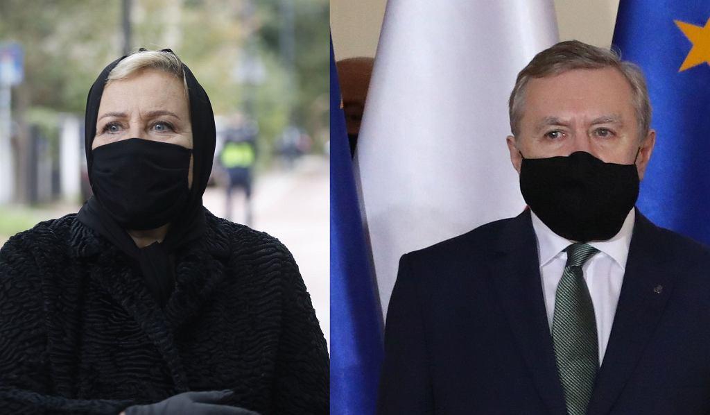 Krystyna Janda i Piotr Gliński