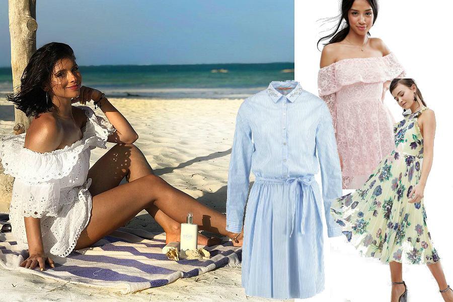 Sukienki letnie - sylwetka typu Klaudia Halejcio