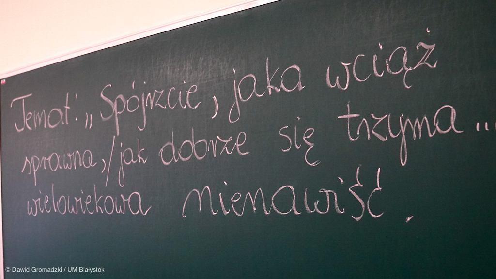 Specjalna lekcja o mowie nienawiści w I Liceum Ogólnokształcącym w Białymstoku