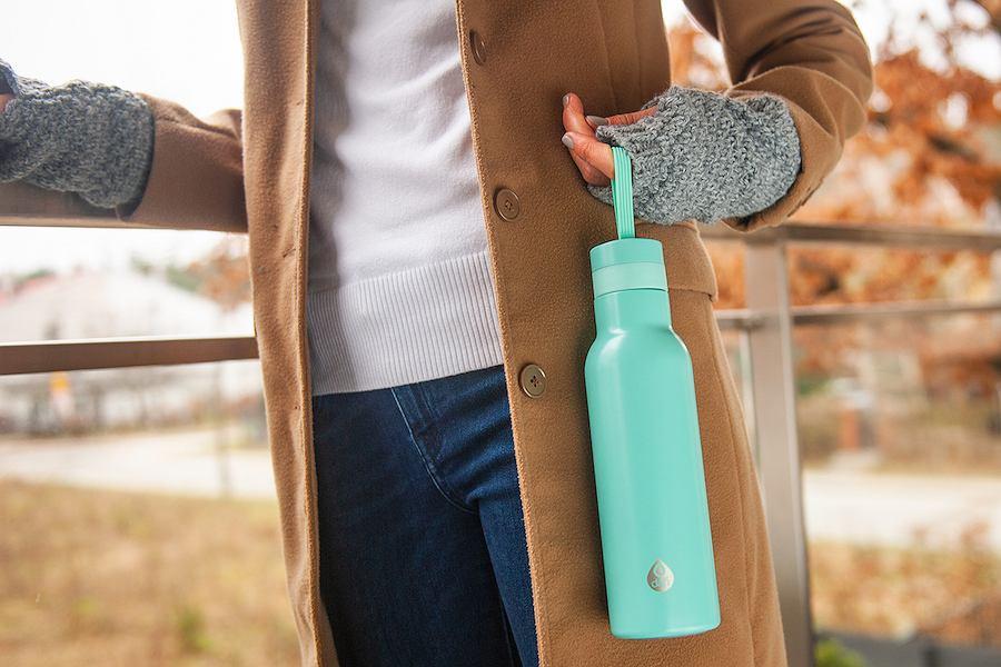 Butelka termiczna Dafi w pistacjowym kolorze