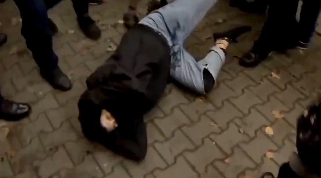 Interwencja policji podczas protestu