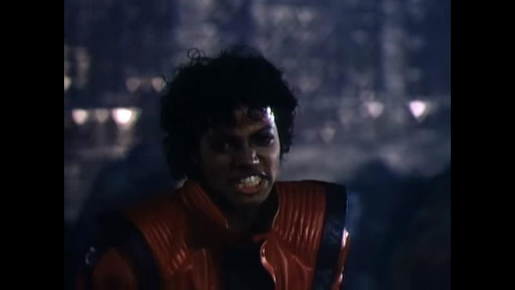 Michael Jackson w klipie do utworu Thriller