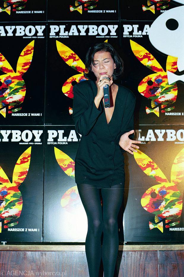 Koncert Edyty Górniak w hotelu Victoria z okazji ukazania się pierwszego numeru polskiej edycji 'Playboya'