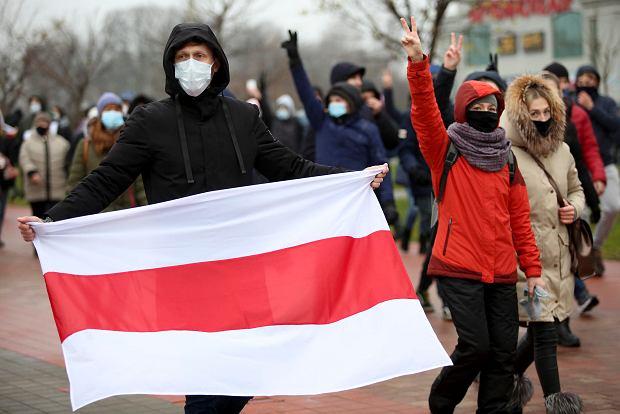 Coniedzielny marsz na ulicach białoruskiej stolicy, 22 listopada 2020