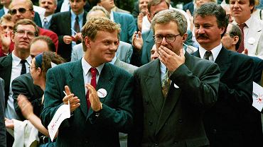 Donald Tusk i Jacek Merkel w 1993 r.