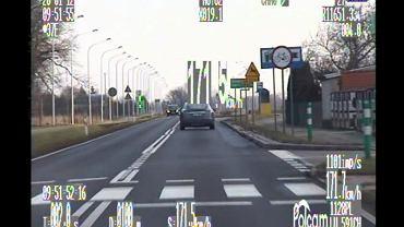 Kierowca gnał 171 km/h w miejscu, gdzie obowiązywało ograniczenie do 70 km/h