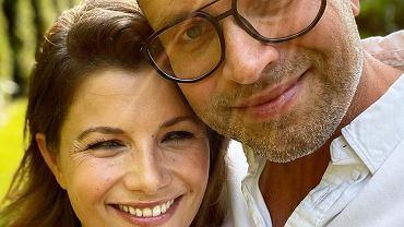 Agieszka Sienkiewicz z mężem