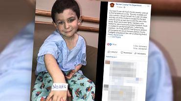 Noah Woods to bohaterski pięciolatek, który uratował swoją rodzinę z pożaru.