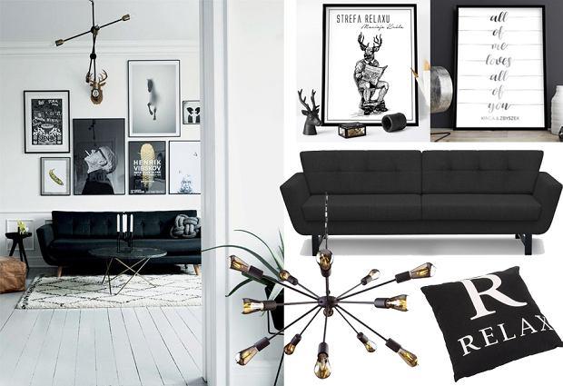Czarna kanapa do salonu - stylowe modele i propozycje aranżacji
