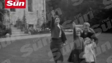 Nazistowskie pozdrowienie w wykonaniu brytyjskiej rodziny królewskiej