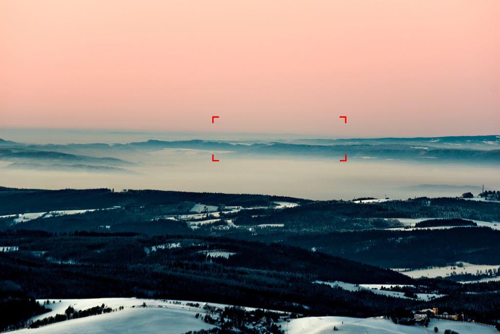 Masyw Rax-Schneeberg-Gruppe widziany ze Śnieżnika, ogniskowa 300 mm