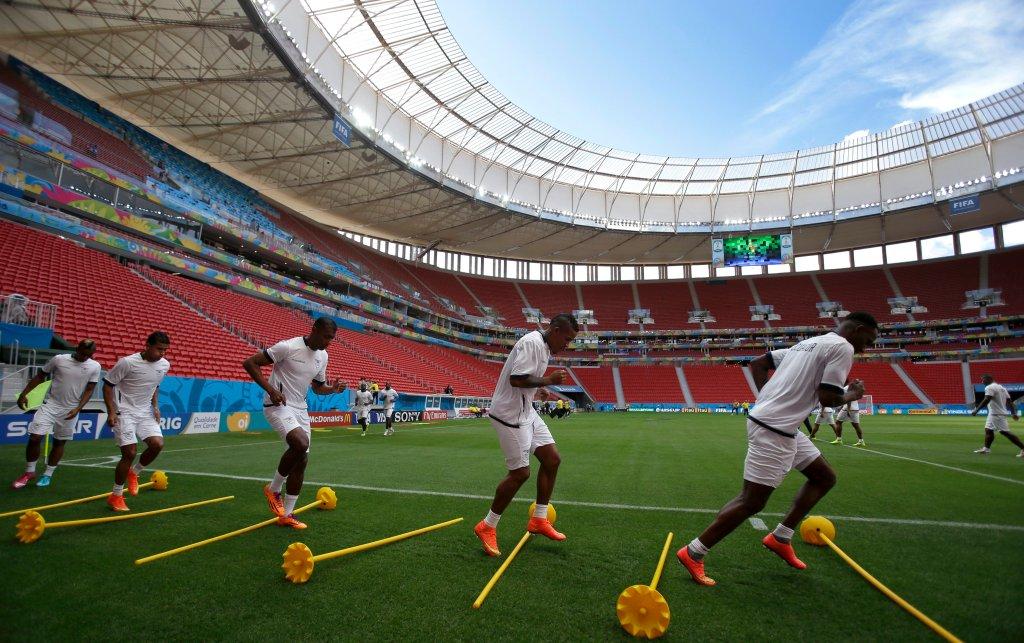 Trening reprezentacji Urugwaju na stadionie w Brasilii