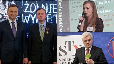 Prezydent Andrzej Duda i Mariusz Bechta, Patrycja Resel oraz Tomasz Panfil