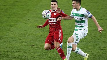 Puchar Polski. Lechia Gdańsk - Piast Gliwice 2:1. Z prawej Karol Fila