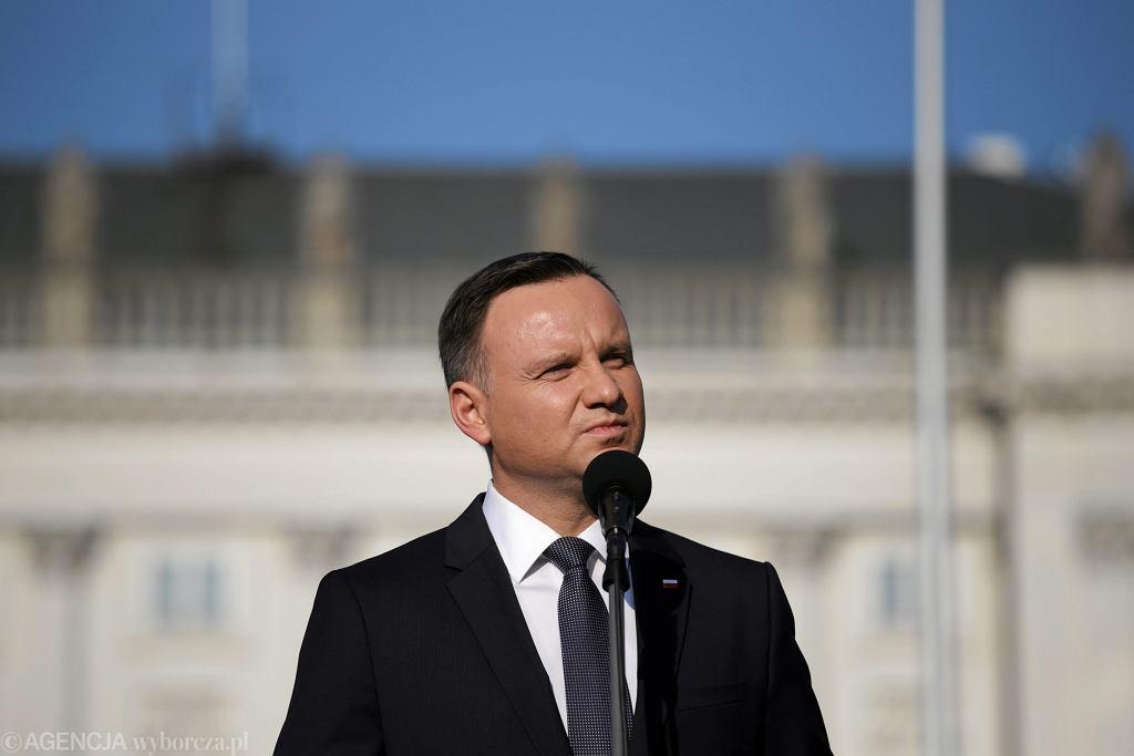 Andrzej Duda przemaiwał podczas obchodów 7 rocznicy katastrofy smoleńskiej