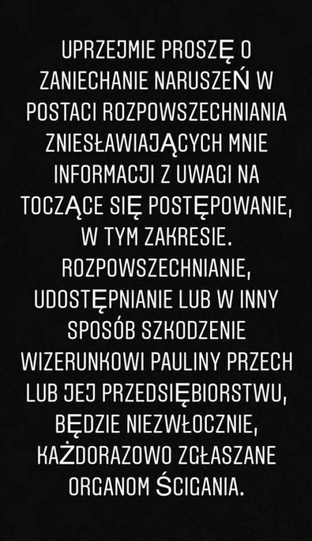 Paulina Pszech broni się