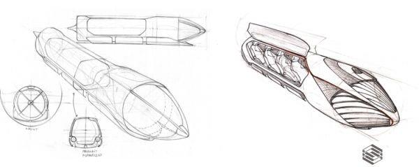 Hyperloop - Szkic
