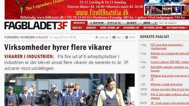 Serwis duńskiego magazynu związkowego