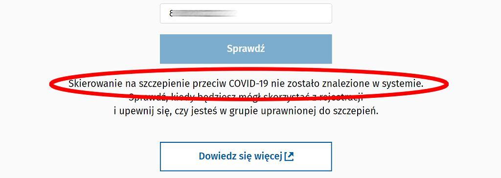 Sprawdź skierowanie na szczepienie przeciwko COVID-19