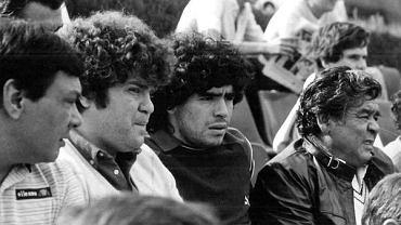 Jorge Cyterszpiler (drugi z lewej) z Diego Maradoną