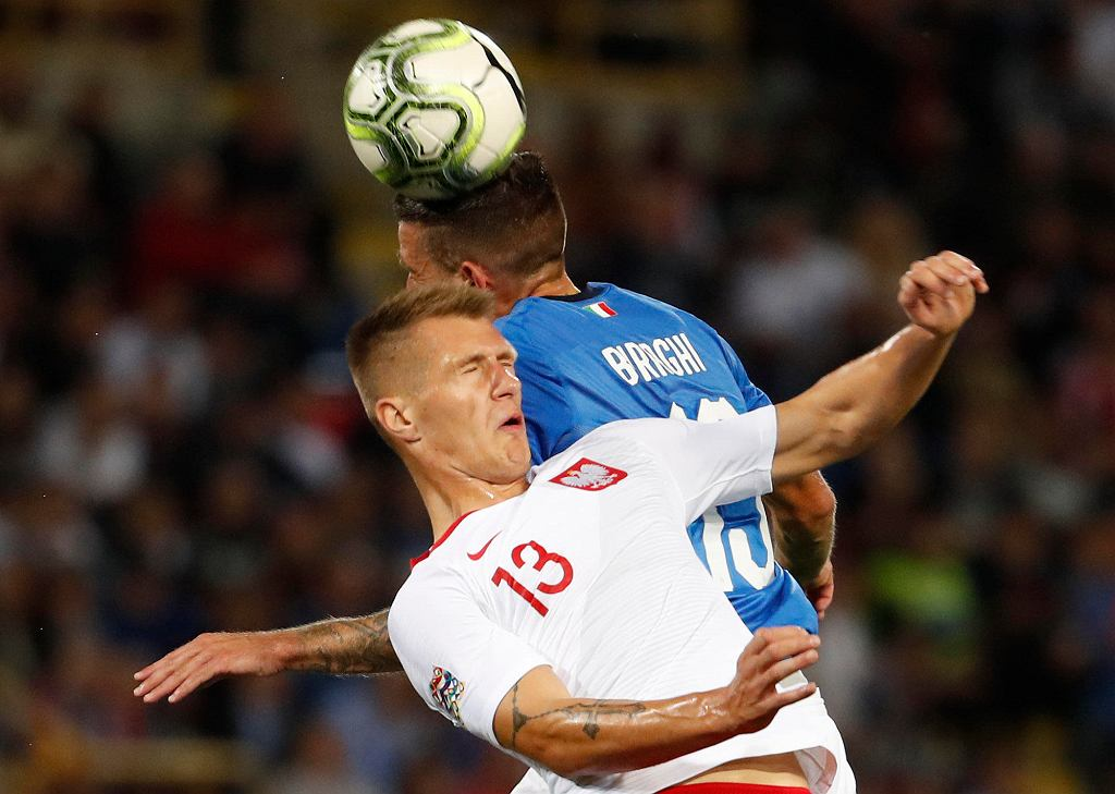Damian Szymański w meczu Polska - Włochy
