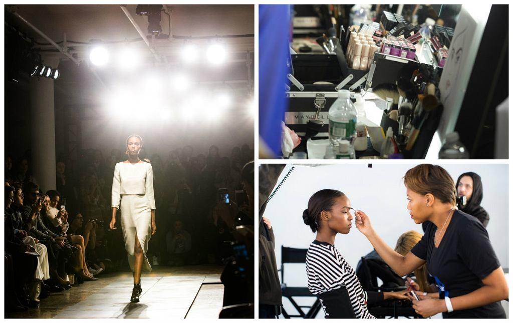 backstage New York Fashion Week
