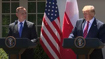 Prezydent Andrzej Duda i prezydent USA Donald Trump. 12 czerwca 2020 r.