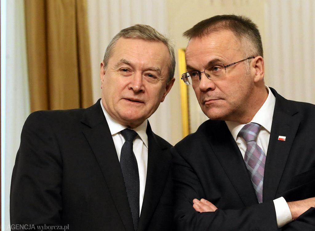 Minister kultury Piotr Gliński i wiceminister kultury Jarosław Sellin