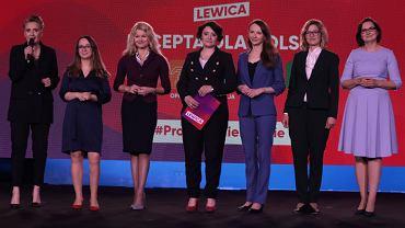 'Receptę dla Polski' Lewicy zaprezentowały posłanki: Joanna Scheuring-Wielgus, Marcelina Zawisza, Karolina Pawliczak, Anna Maria Żukowska, Agnieszka Dziemianowicz-Bąk, Magdalena Biejat i Anita Sowińska