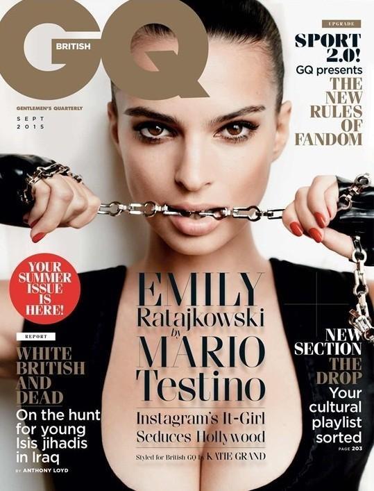 Emily Ratajkowksi na okładce GQ Britain