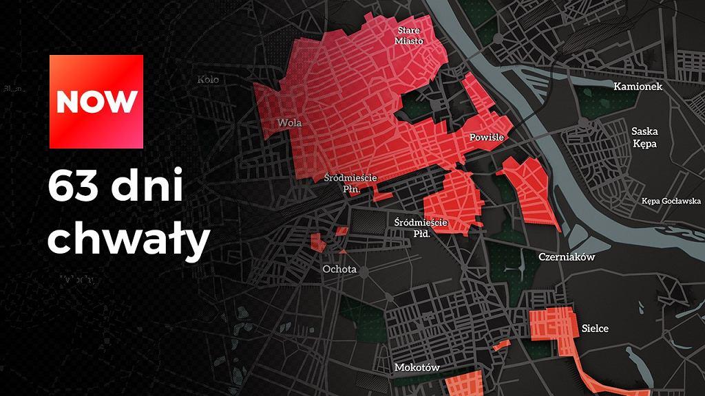 Mapa Powstania Warszawskiego