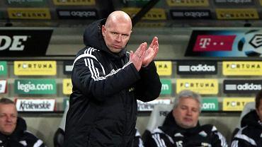 Henning Berg podczas meczu Legia - Piast (2:0