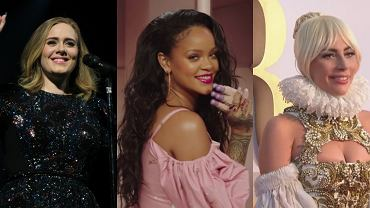 Adele, Rihanna, Lady GaGa