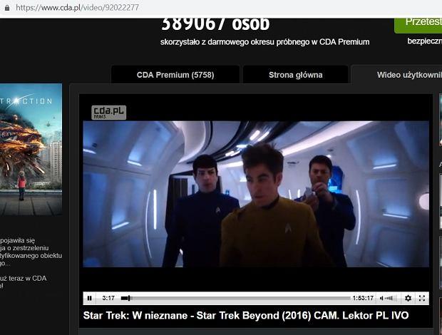 Star Trek Beyond w serwisie CDA.pl dnia 11.10.2018