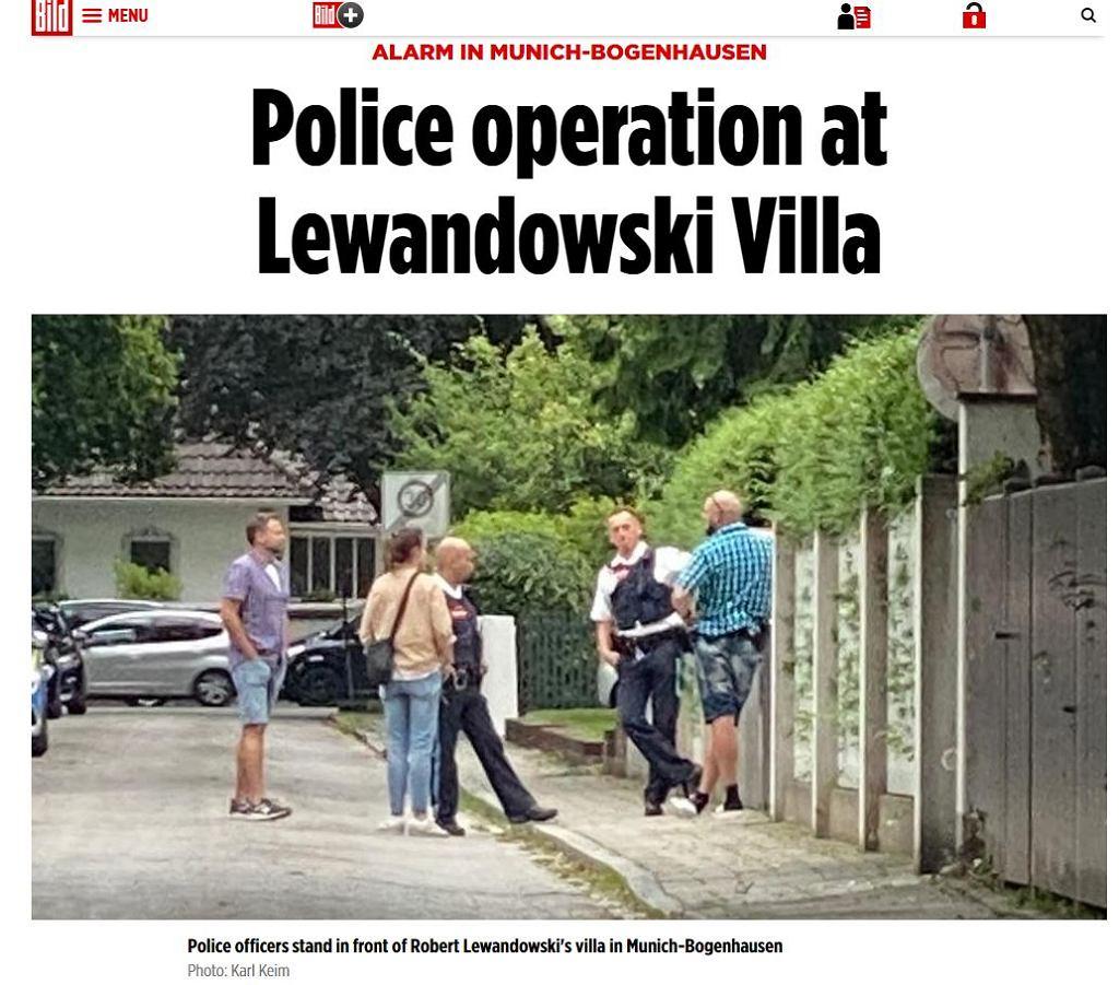 Policja przed domem Roberta Lewandowskiego