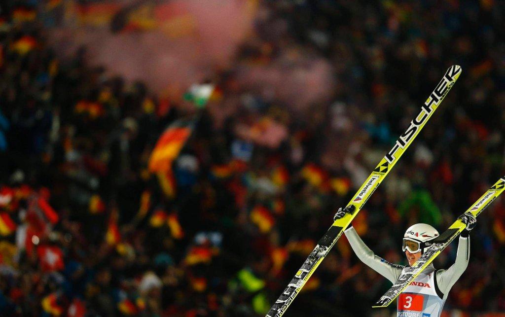 Simon Amman po triumfie w Oberstdorfie