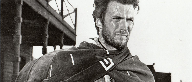 Zdjęcie Clinta Eastwooda zrobione na potrzeby filmu 'Za garść dolarów' (fot. Domena publiczna)