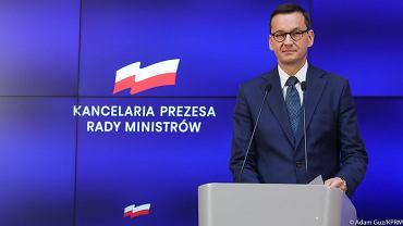 30.07.2020 Warszawa. Premier Mateusz Morawiecki podczas konferencji prasowej